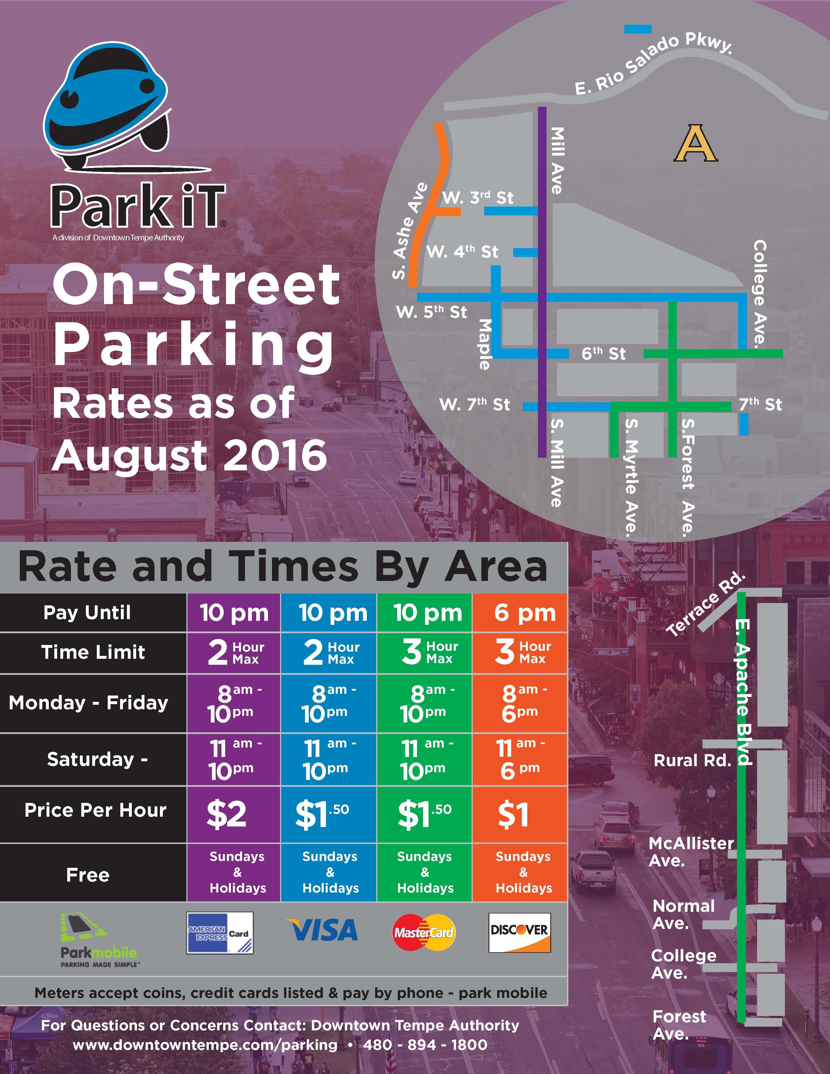 OnStreet Meters Downtown Tempe AZ