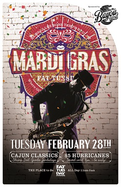 Mardi Gras Celebration at Fat Tuesday Tempe