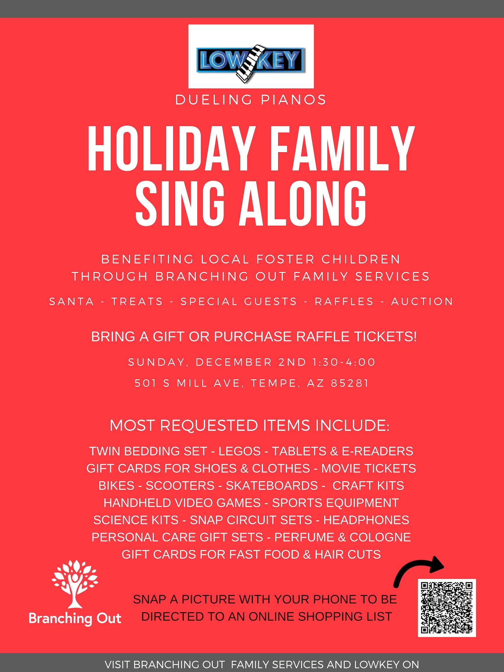 Holiday Family Sing Along At LowKey