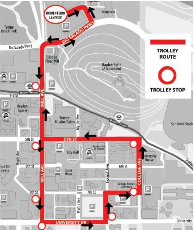 You can now enjoy the Free Lunchtime Trolley indefinitely Downtown