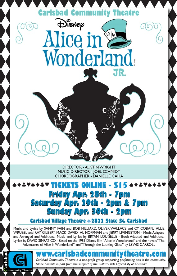 Alice in Wonderland Jr Comes to the Carlsbad Village Theatre