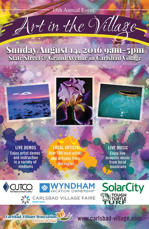 18th Annual Art in the Village Comes to the Village August 14th