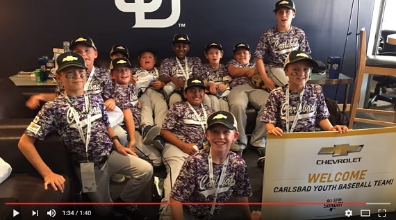 Chevy Youth Baseball All-Star Surprise for Carlsbad Youth