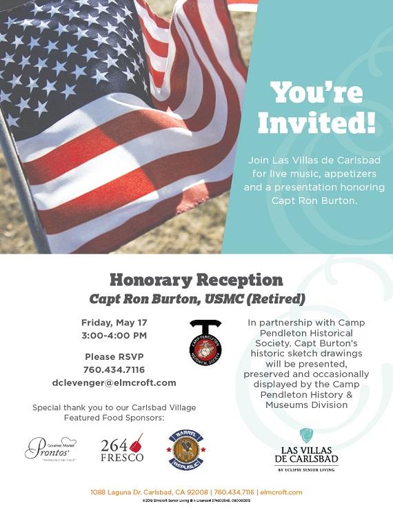 Camp Pendleton Historical Society Honors Village Resident May 17