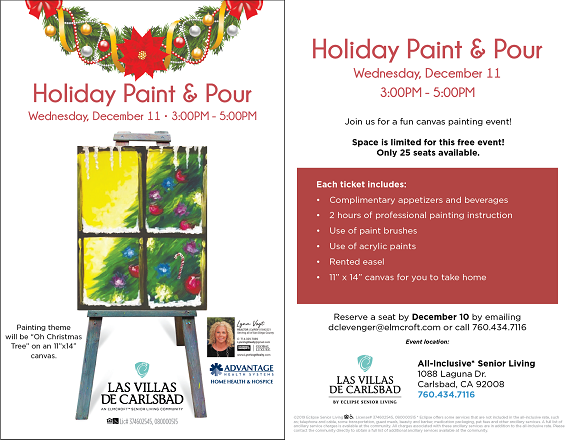 Join Us At The Holiday Paint and Pour