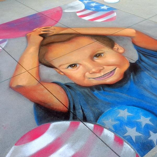 Live Chalk Art Kicks Off Pop Up Art Experience