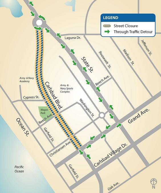 Upcoming Carlsbad Blvd Closure