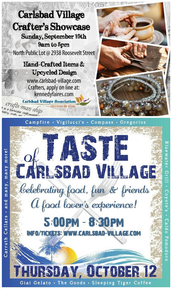 Two More Great Carlsbad Village Events!