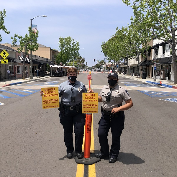 Carlsbad Community Service Officers Are Key To Farmers' Market