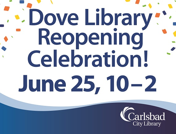 Dove Library Reopens Saturday!
