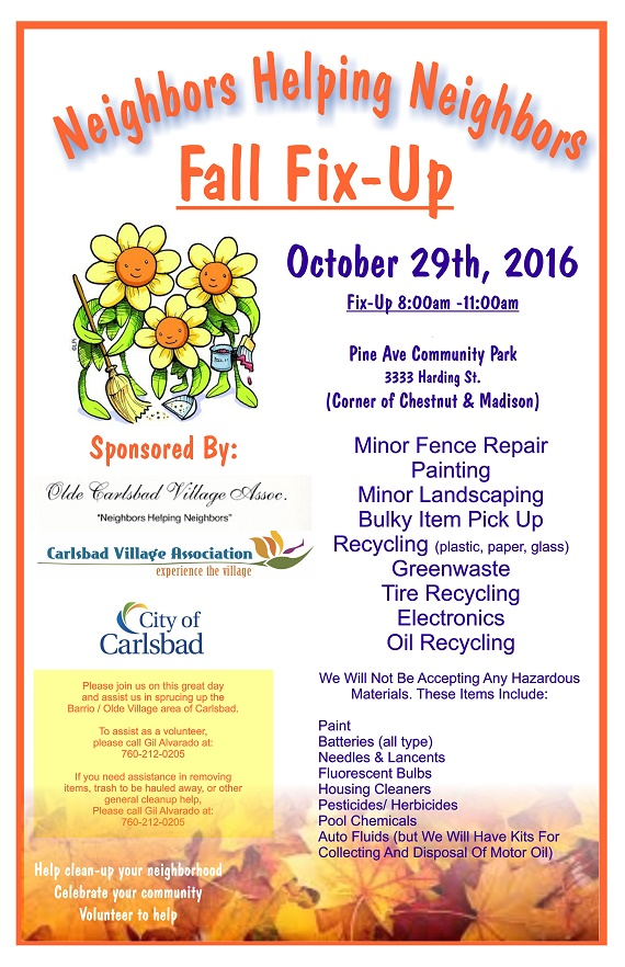 It's Fall Fix-Up Time in Olde Carlsbad