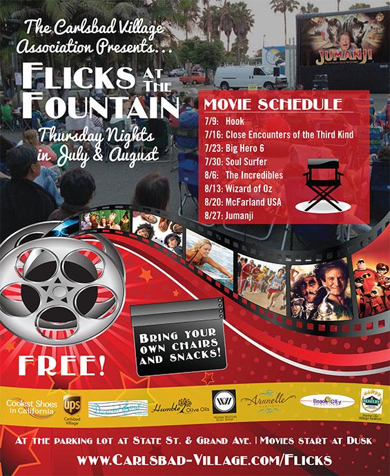 Flicks at the Fountain 2015