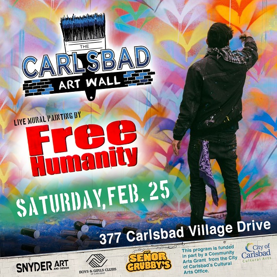 Free Humanity to Paint the Carlsbad Art Wall