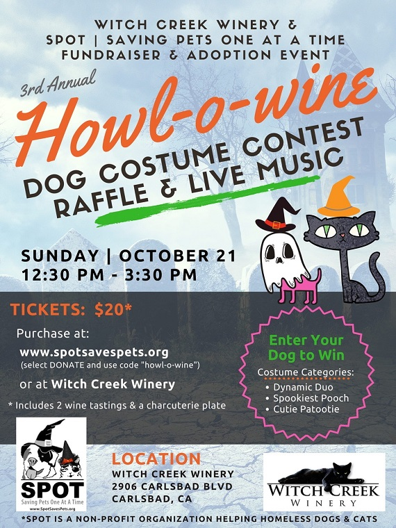Howl-o-wine Charity Event at Witch Creek Winery