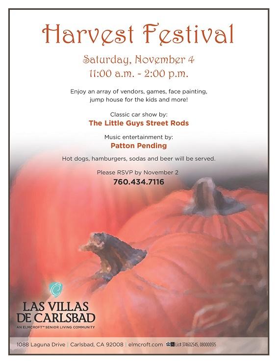Las Villas De Carlsbad Hosts Harvest Festival Saturday
