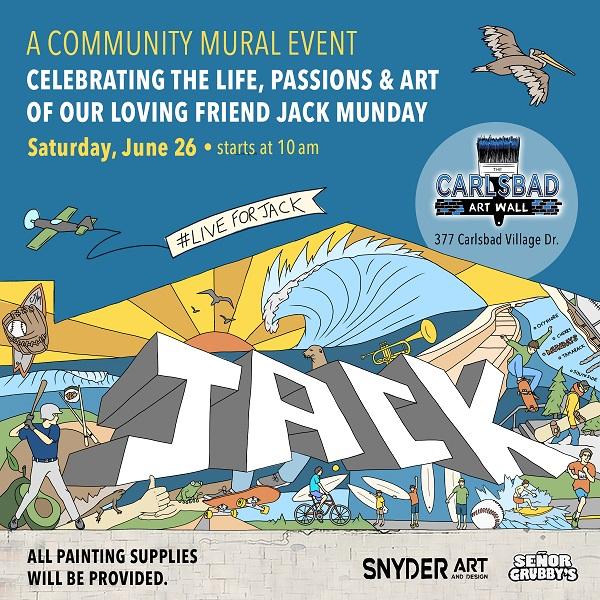 Carlsbad Art Wall Celebrates Jack Munday