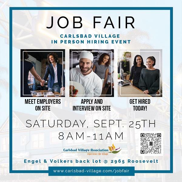 Carlsbad Village Job Fair Provides In Person Interviews