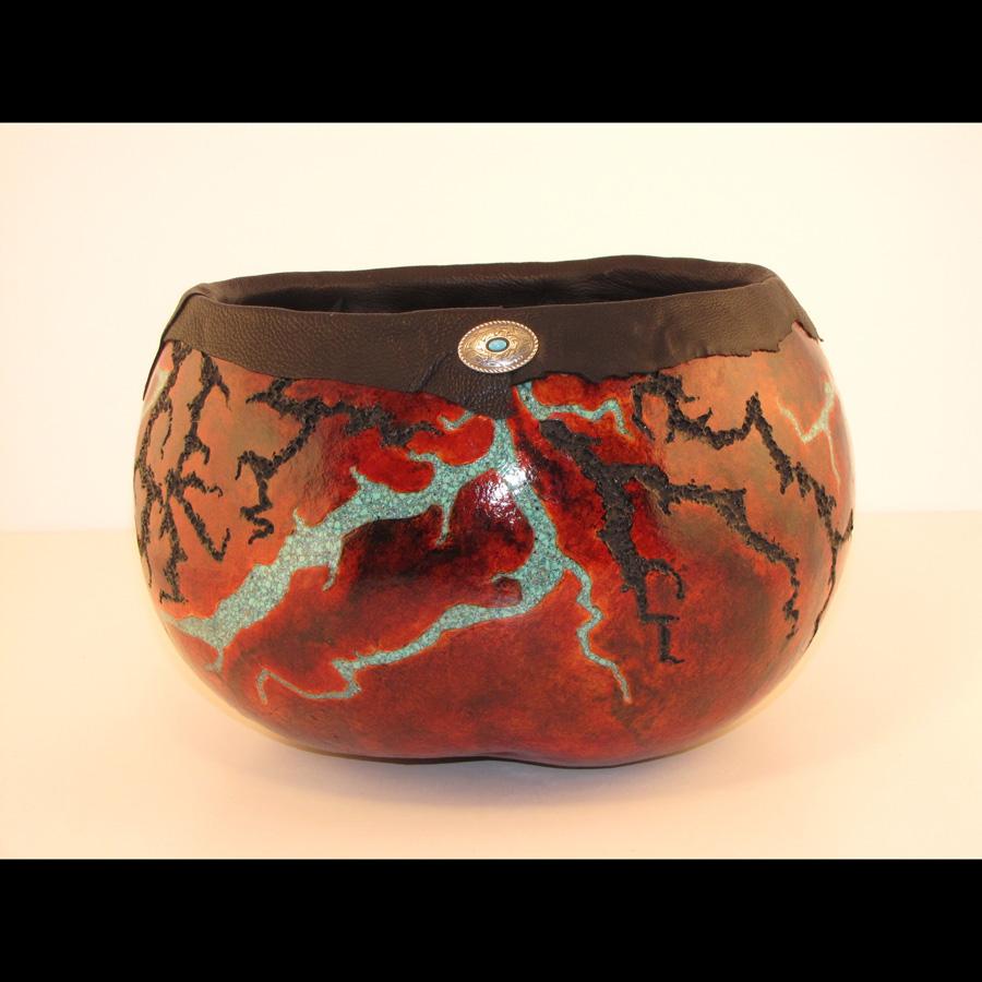 Maggie LeDuc, basket and gourd art