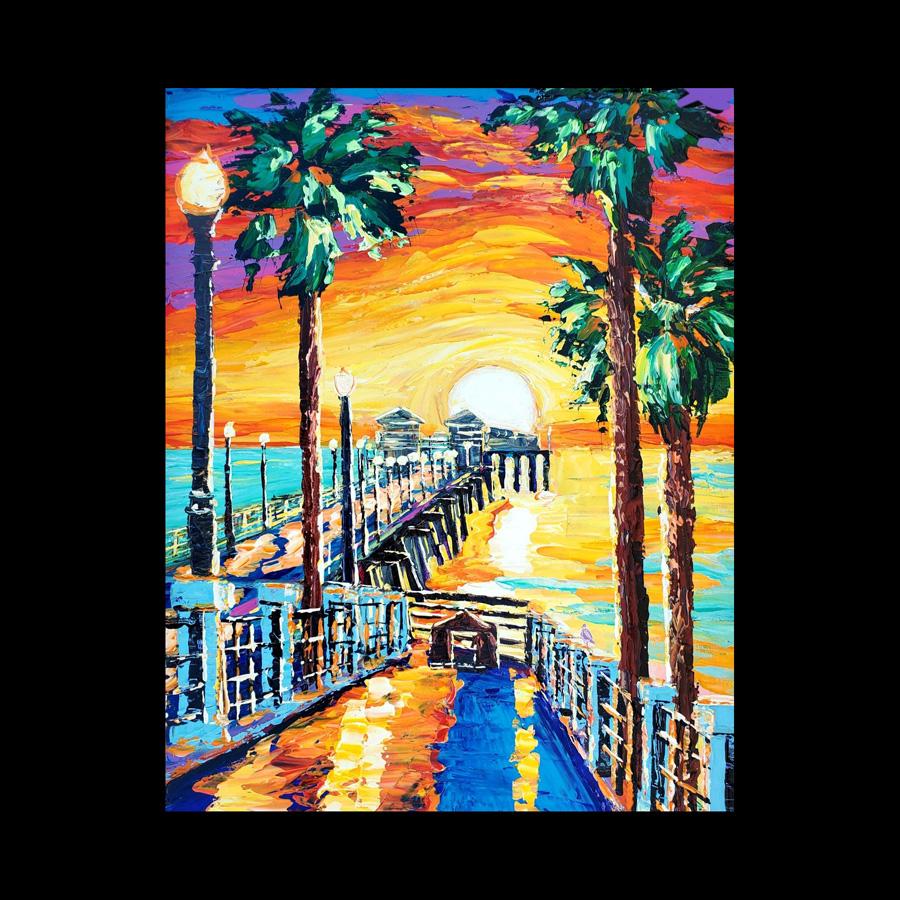Sunset Wave Art