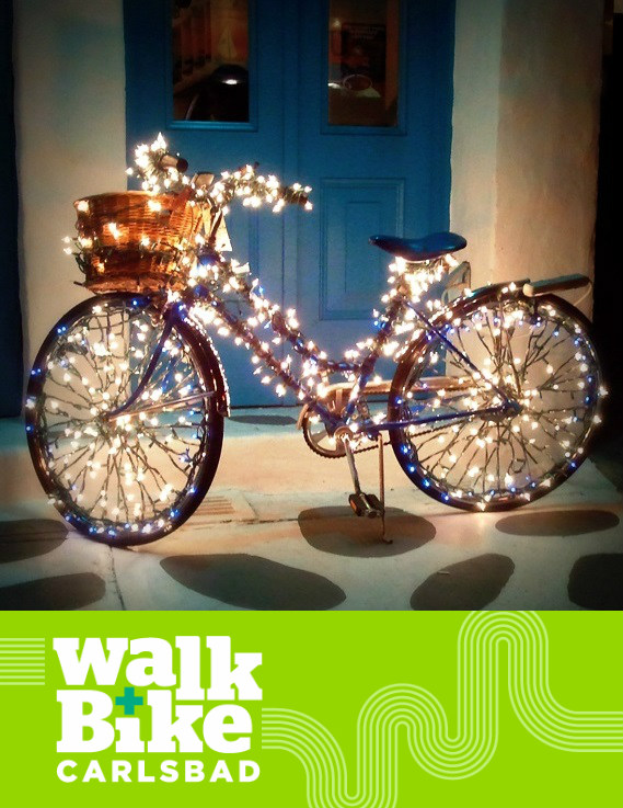 Two Festive Bike Rides to the Carlsbad Holiday Tree Lighting