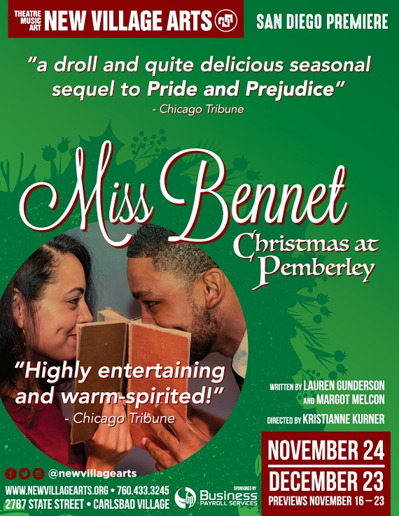 Miss Bennet: Christmas at Pemberley Delights at New Village Arts