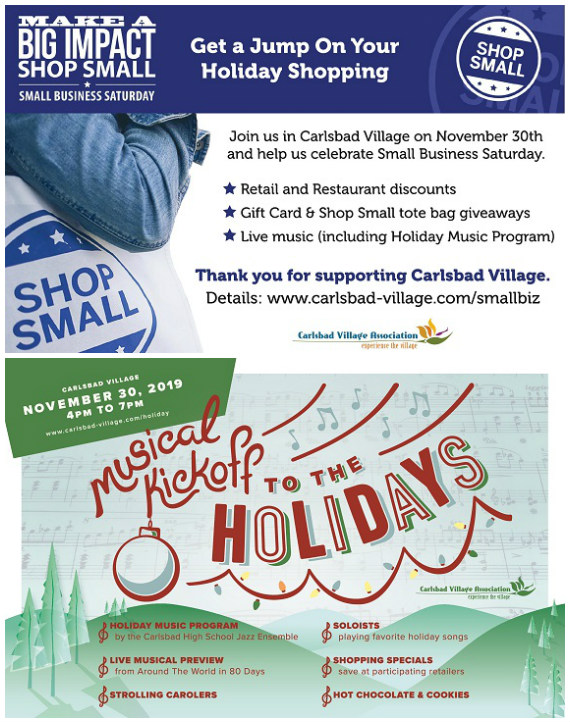Celebrate Small Business Saturday In Carlsbad Village