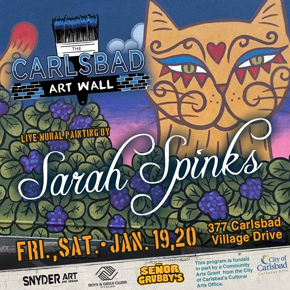 Carlsbad Art Wall Painted Live This Weekend