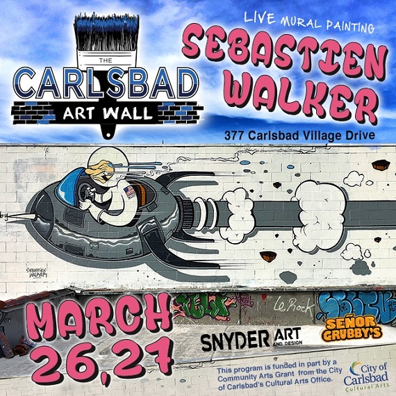 New Carlsbad Art Wall Goes Live With International Artist