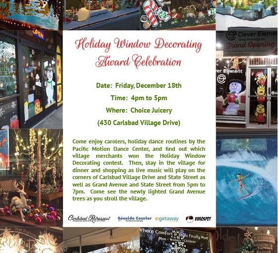 Holiday Window Decorating Contest: Award Celebration
