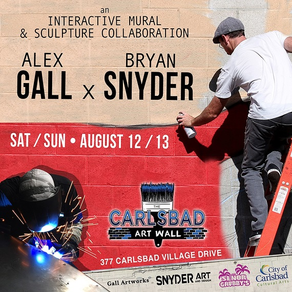 Bryan Snyder to Paint Carlsbad Art Wall