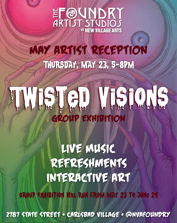 Twisted Visions Exhibition Opens May 23rd With Art Reception