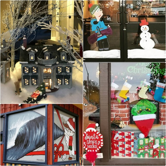 Carlsbad Village Holiday Window Contest in Full Force