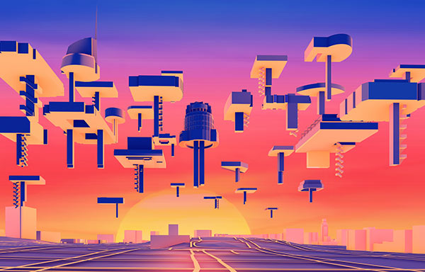 The Flying Fleet of Social Zones by Jimenez