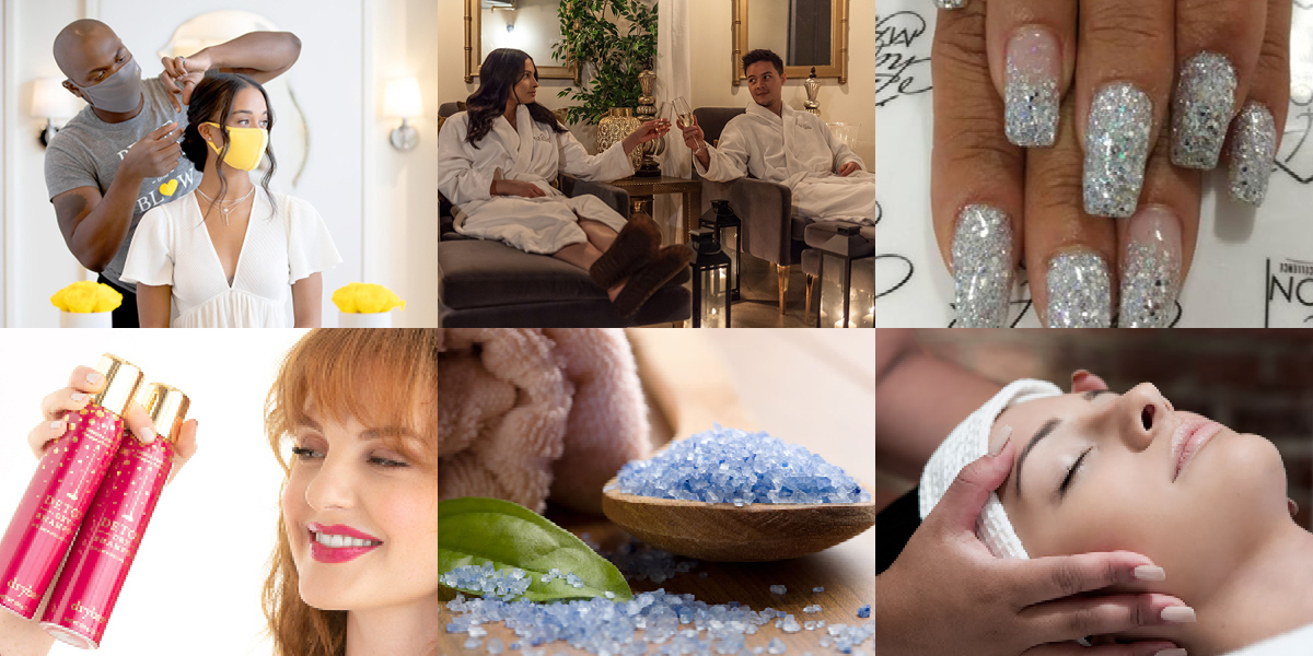 Salon services at Drybar; Private couple's massage at DESUAR Spa; Nail enhancements from Chayil Maison Nail Salon; Detox dry shampoo from Drybar; Exfoliation wrap and massage at Spa at Omni Hotel; Signature massages at Frais Spa