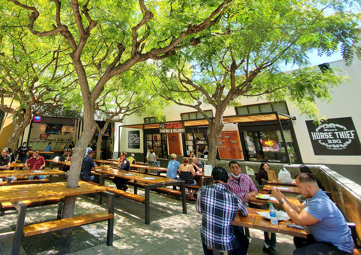 Dining in Downtown LA's Great Outdoors