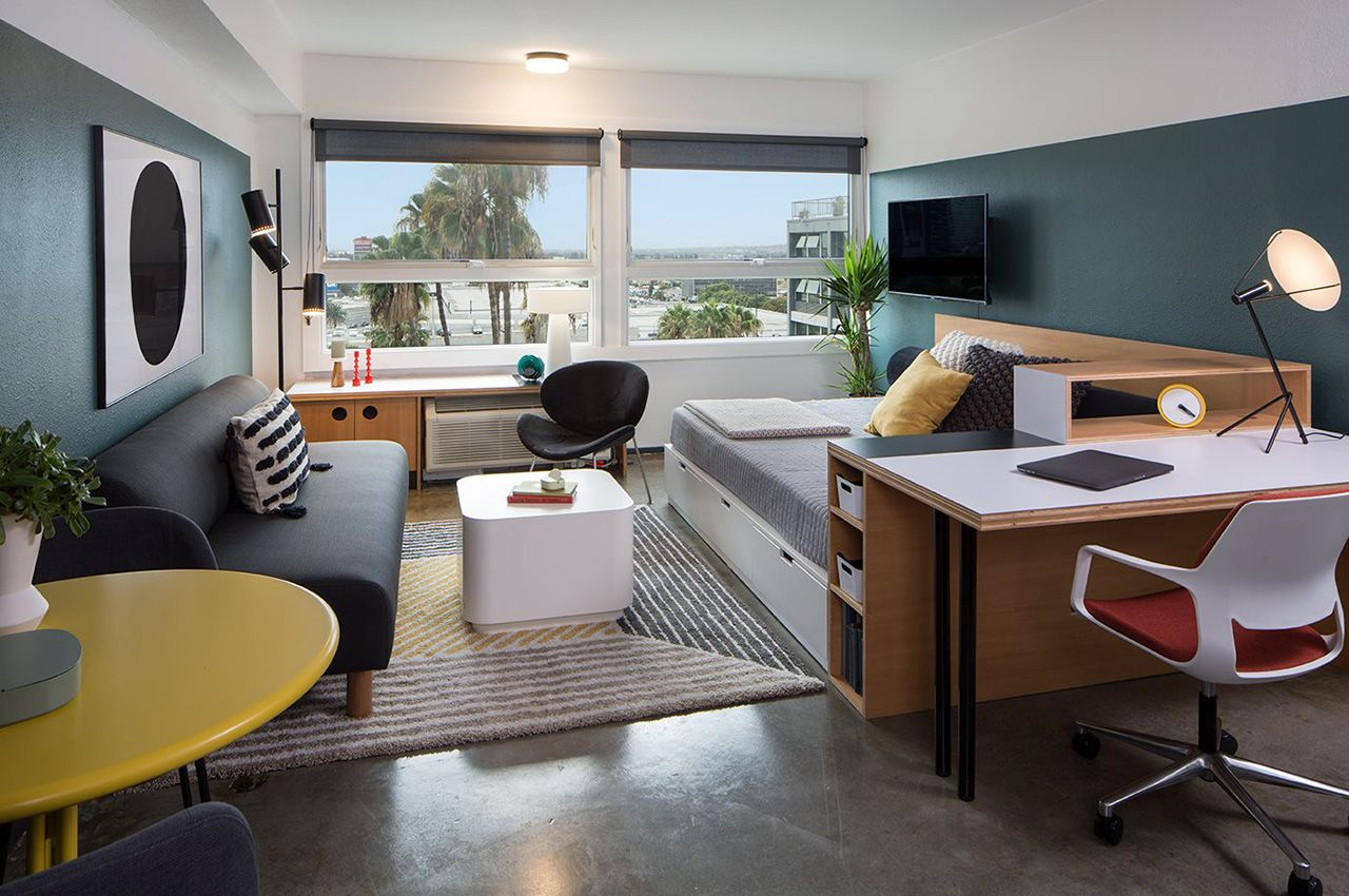 Apartment with modern furnishings