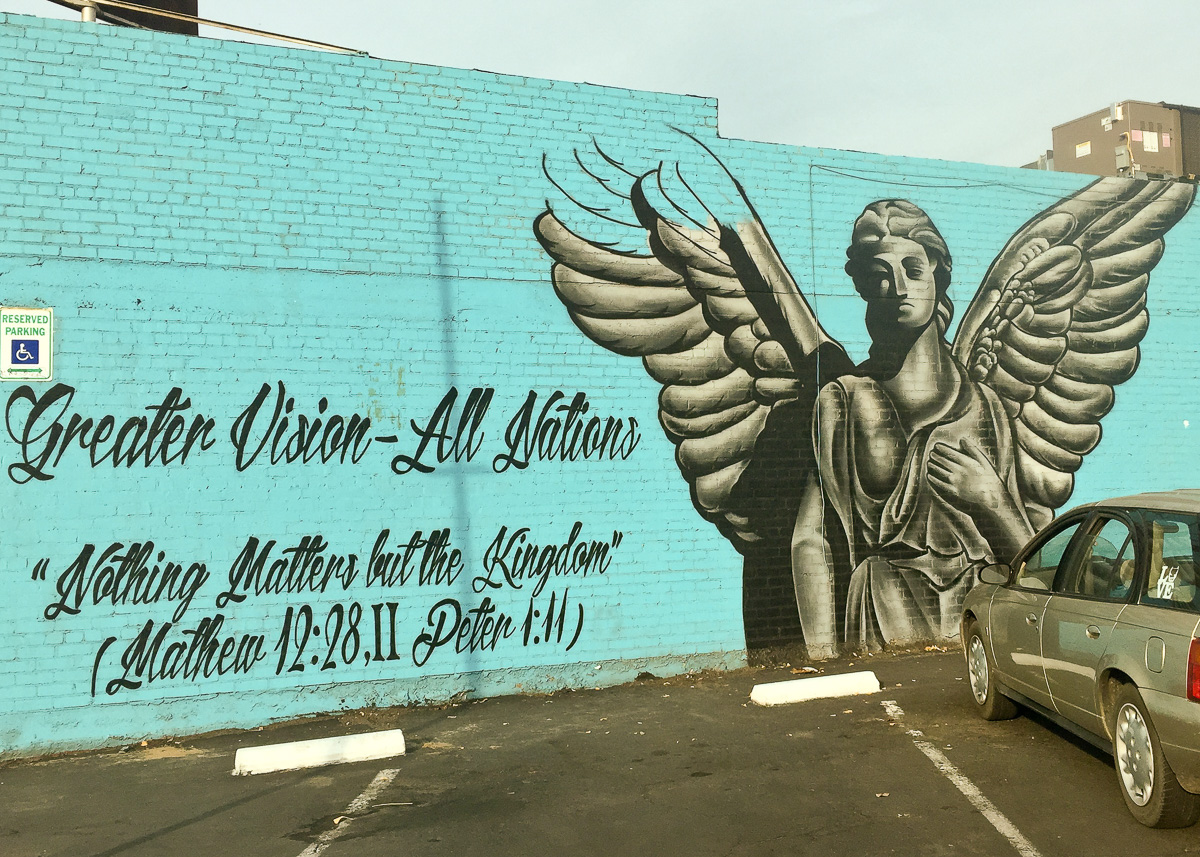 Casa Camacho- Mural of Angel