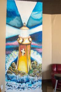Cornerstone Coffee Interior Mural