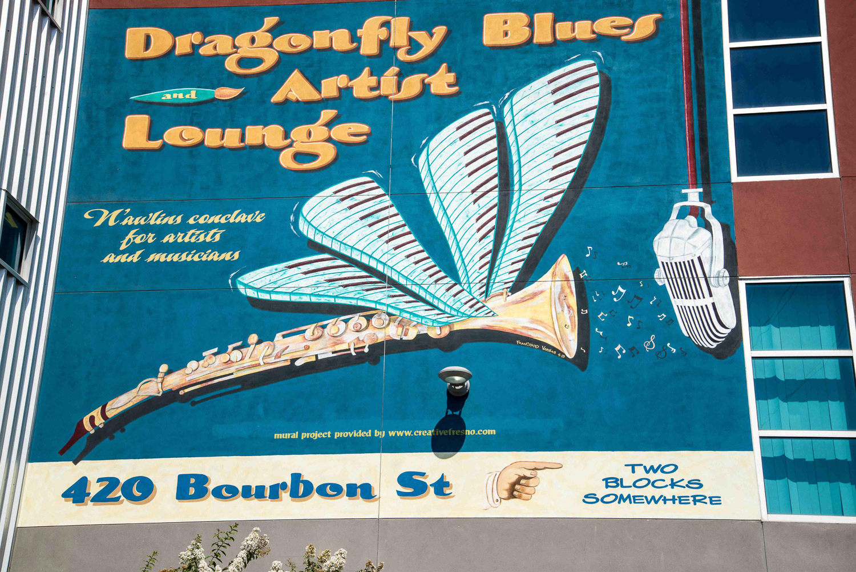 Dragonfly Blue Artist Lounge
