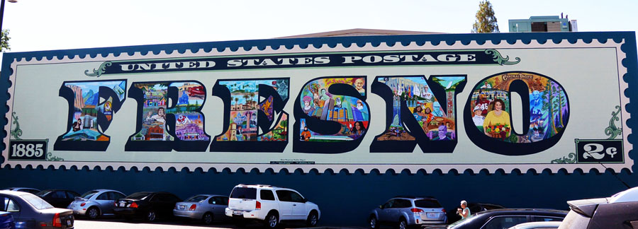 Fresno Postage Stamp Mural
