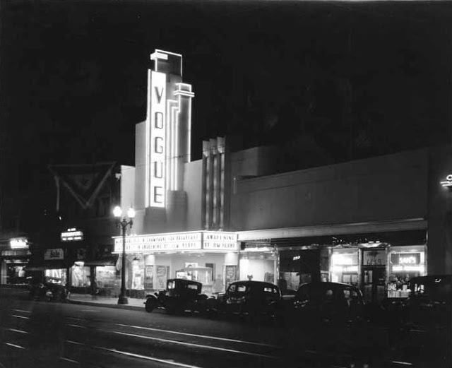 The Vogue Theatre in 1935, the year it opened. Photo courtesy of the California State Library.