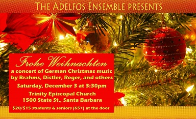 adelfos ensemble rings in the 2016 holiday season with a concert of festive and meditative a cappella christmas music and carols by german composers such as - German Christmas Music