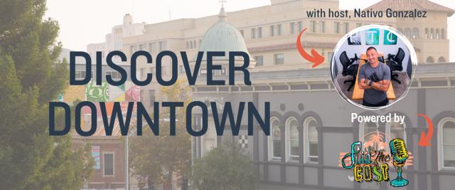 """Image of Downtown Santa Cruz with words """"Downtown Santa Cruz"""" and photo of Nativo Gonzalez"""