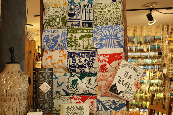 Hand Painted Tea Towels from Two Hands Paperie