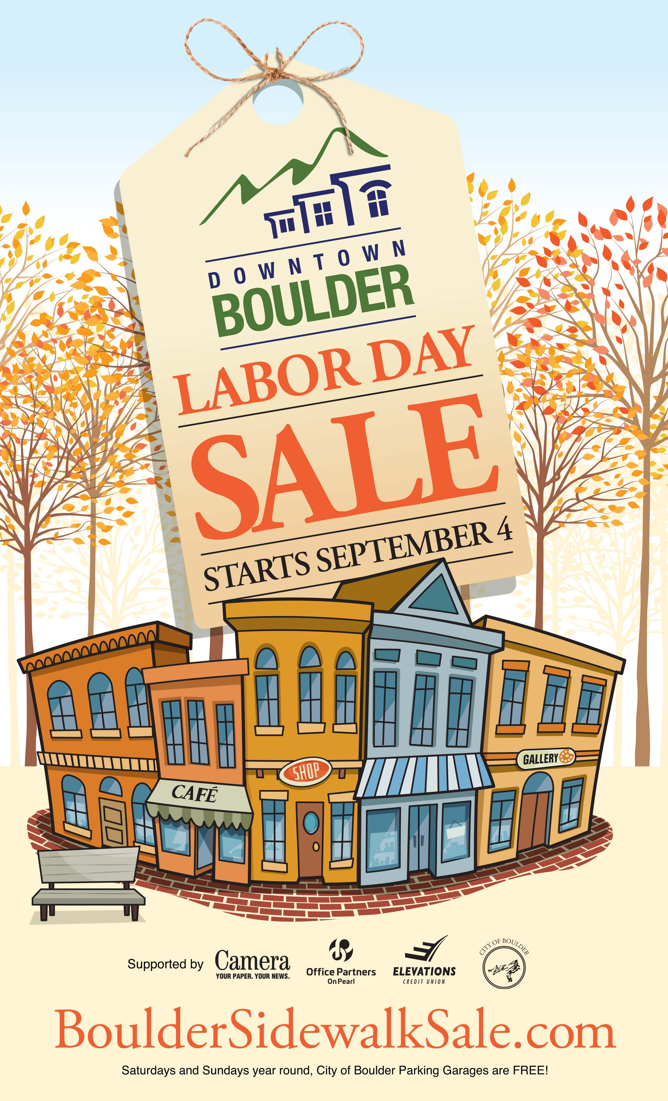 tag that reads: labor day sale