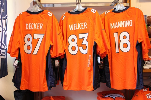 d99f170bf Limited edition Super Bowl jersey s available in Decker ( 87) Welker ( 83)  and Manning ( 18) available at Jackalope Mens   120   Womens   115