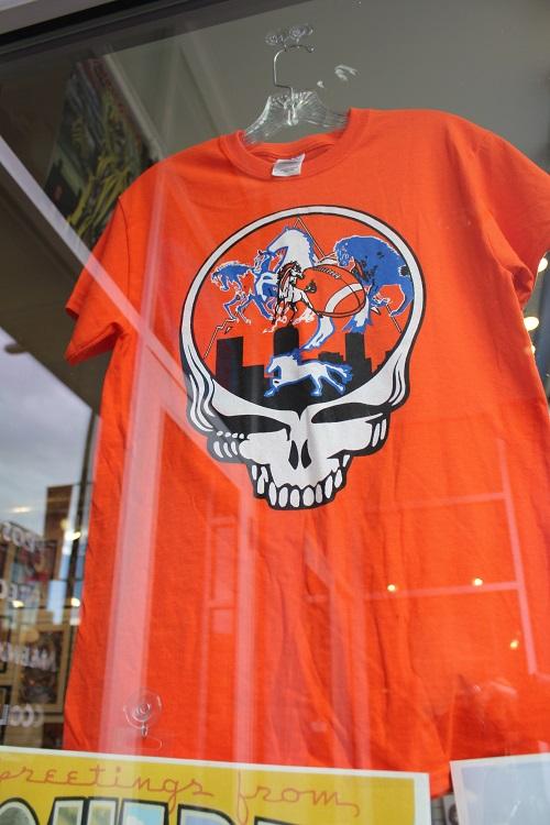 Orange Broncos t Shirt Broncos Skull T-shirt