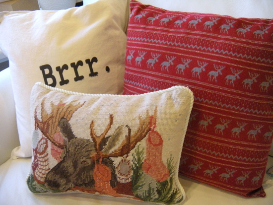 Holiday Pillows from Clutter
