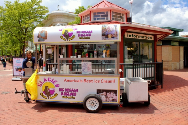 Glacier Homemade Ice Cream Cart Downtown Boulder