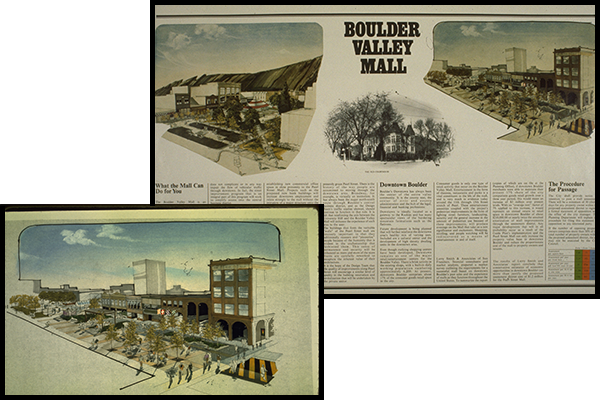 newspaper clipping about pearl street mall